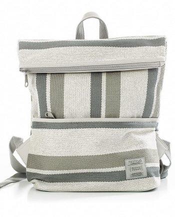 Vegan-backpack-stripy-cream 1
