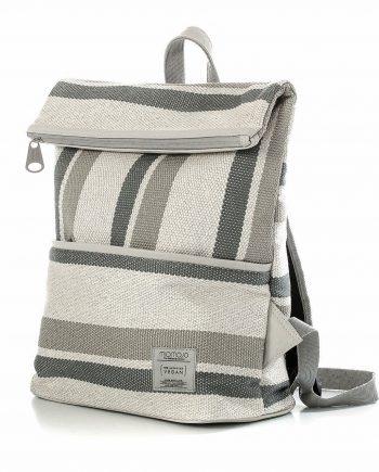 Vegan-backpack-stripy-cream 2