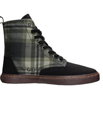 scarpe-unisex-ethletic-fair-sneaker-modello-brock-tartan-mystic-green-lato-destro