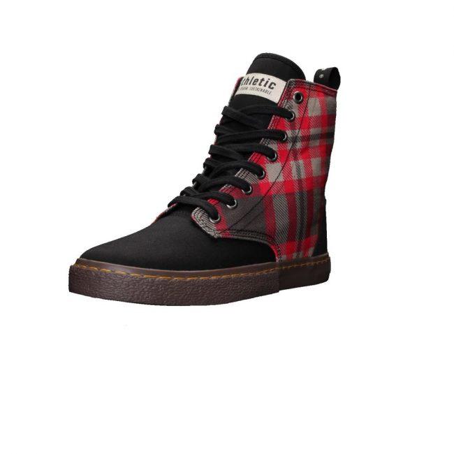 scarpe-unisex-ethletic-fair-sneaker-modello-brock-tartan-rough-rug-laterale