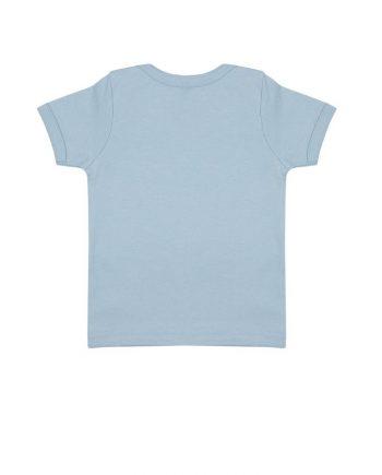 t-shirt-neonato-cotone-organico-blu-soft-retro