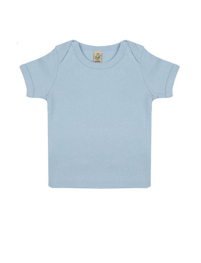 t-shirt-neonato-cotone-organico-blu-soft-fronte