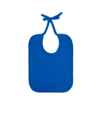 bavaglio-neonato-cotone-organico-colore-Bright-Blue