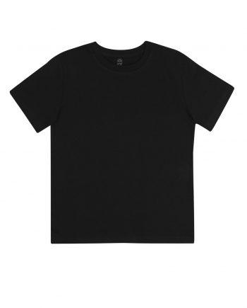 t-shirt-junior-classica-cotone-organico-colore-black-fronte