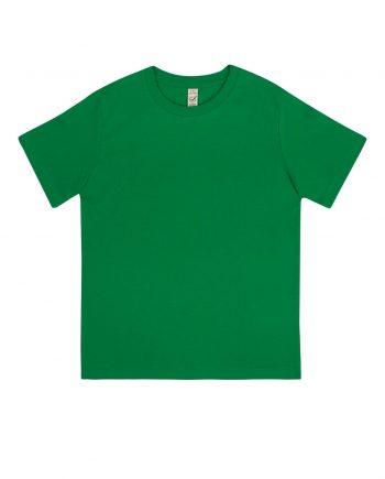 t-shirt-junior-classica-cotone-organico-colore-kelly-green-fronte