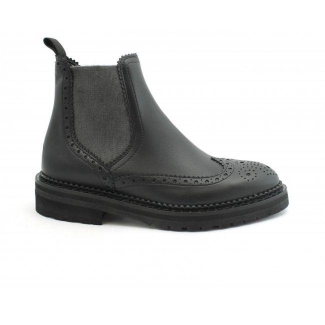 Scarpe-donna-stile-inglese-impermeabile-con-calzata-elastica-senza-lacci-colore-nero