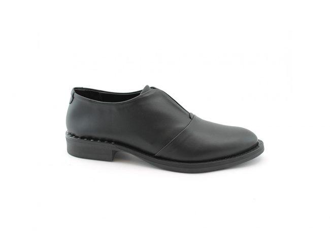 Scarpe-donna-classica-impermeabile-con-calzata-elastica-senza-lacci-colore-nero