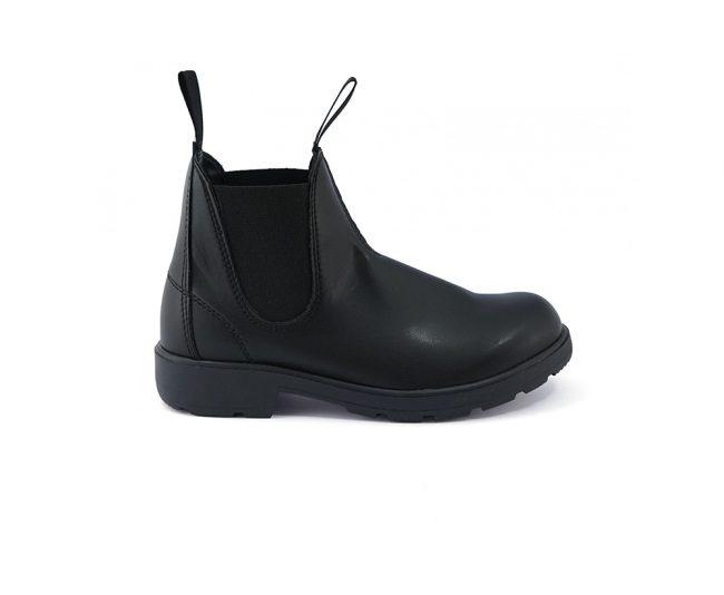 Scarpe-donna-impermeabile-con-calzata-elastica-senza-lacci-colore-nero-laterale
