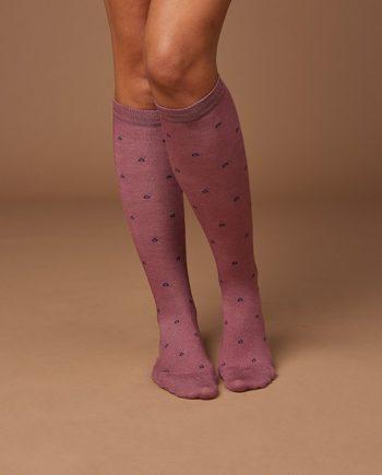 Calzini-lunghi-donna-tessuto-naturale-cameo (3)