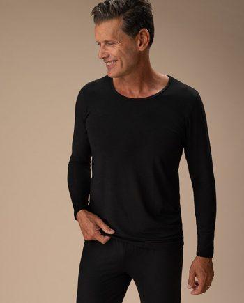 maglia-manica-lunga-uomo-nero-cotone-organico-fronte