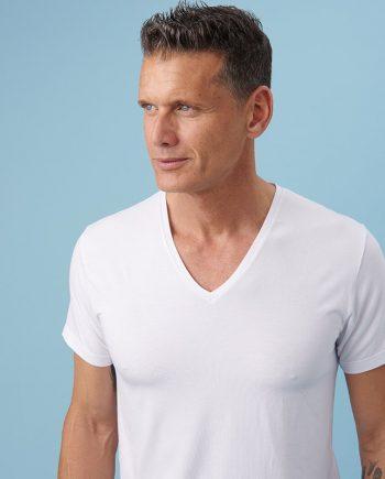 t-shirt-uomo-bianca-scollo-v-davanti