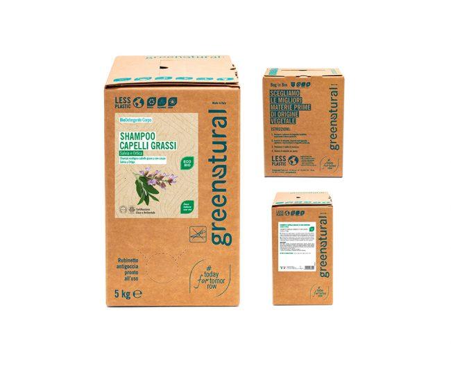 bag in box shampoo-capelli grassi-5kg-greenatural