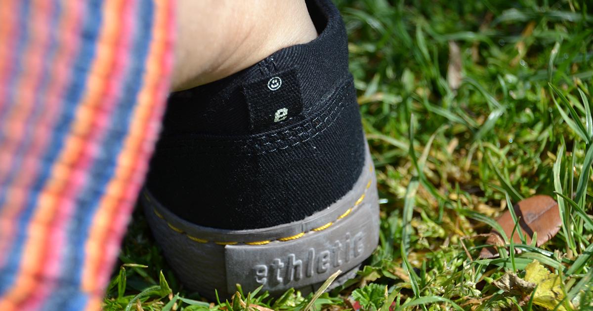 scarpa vegan ethletic dettaglio