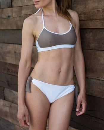Bikini top eco-tortora-figura intera fronte